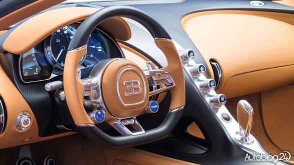 Bugatti Chiron - wnętrze