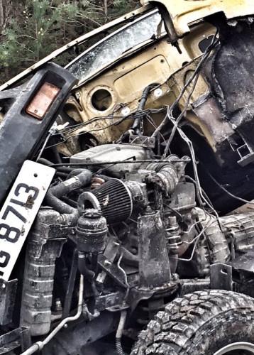 Clarkson - uszkodzony samochód podczas nagrywania