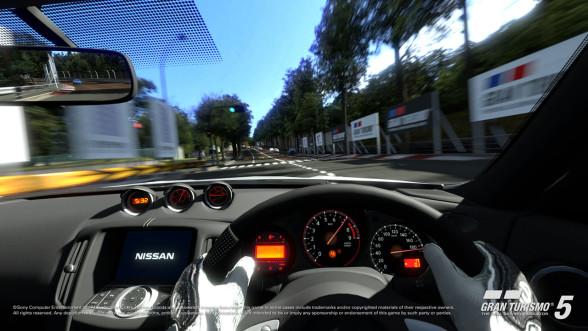 Gran Turismo - widok z wnętrza