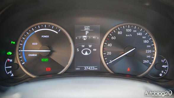 Lexus NX 300h - zegary