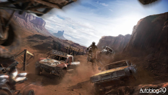 MotorStorm - kanion i samochody