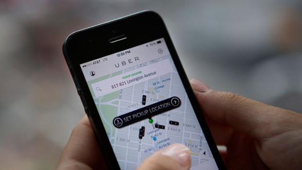 Uber na telefonie iPhone
