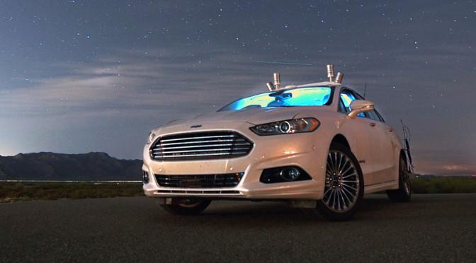 Autonomiczne samochody i jazda w nocy - Ford pokazuje, że w przyszłości światła nie będą potrzebne