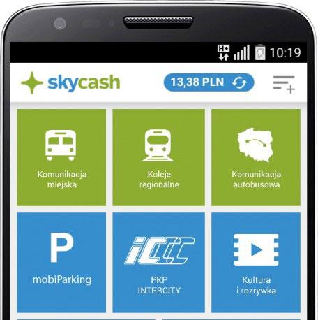 SkyCash - menu