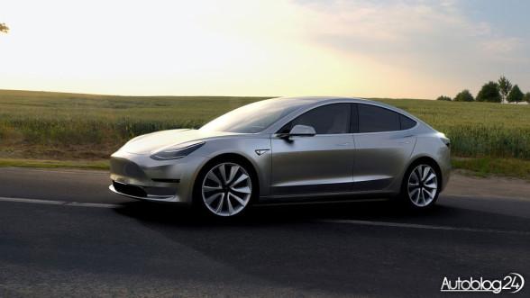 Tesla Model 3 - przód