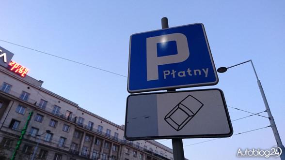 Znak - płatne parkowanie