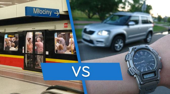 Metro czy samochód - przekonajmy się który sposób poruszania się po Warszawie jest szybszy