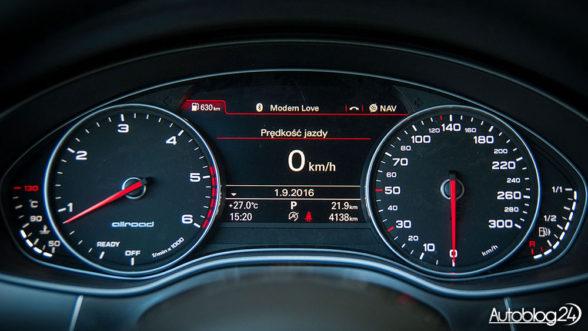 Audi A6 Allroad - zegary w modelu z 2016 roku