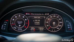 Audi Q7 - cyfrowe zegary