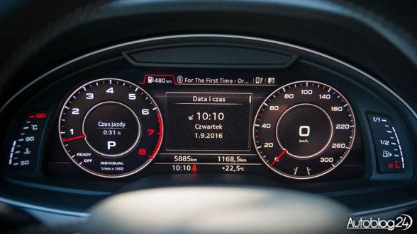 Nowe Audi Q7 (2016) - cyfrowe zegary