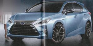 Lexus CT 200h 2017 - wizja nowej modelu