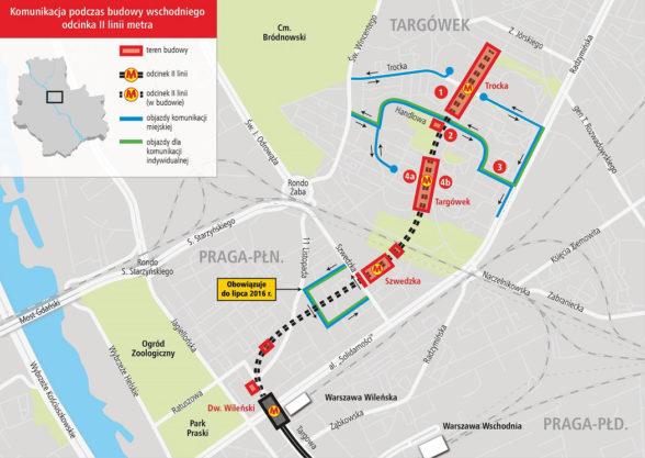 Metro Targówek - utrudnienia podczas budowy