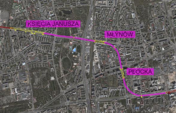 Metro na Woli - mapa nowych stacji