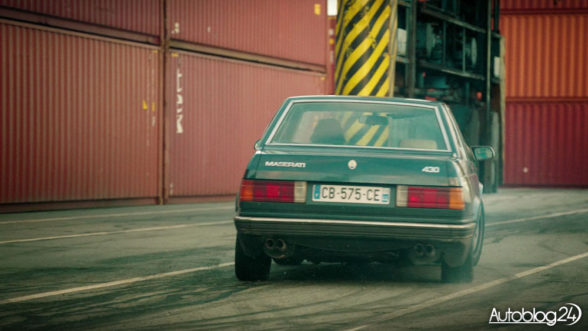 Maserati 430 i efektowny drift