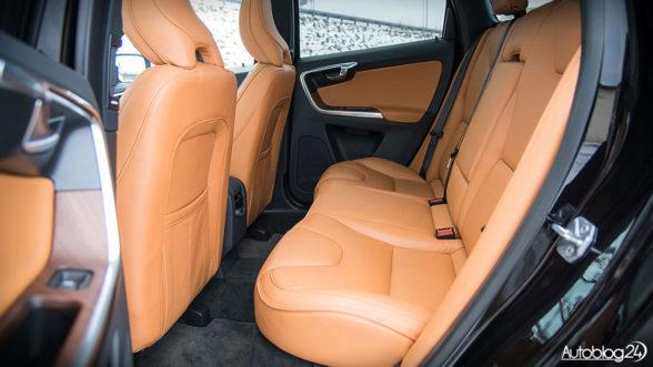 Volvo XC60 - tylna kanapa jest bardzo wygodna