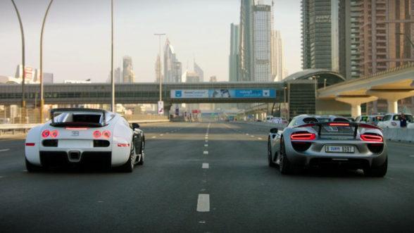 Bugatti Veyron i Porsche 918 - pojedynek