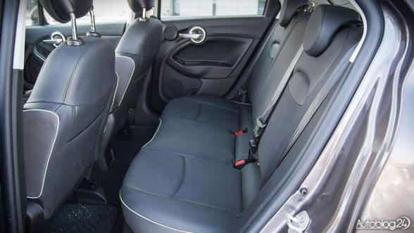 Fiat 500X - tylna kanapa