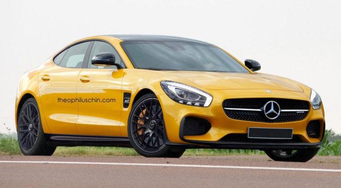 Mercedes-AMG GT4 - zdjęcia. Sportowy sedan powalczy z Panamerą?