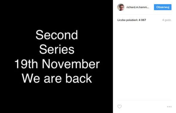 Richard Hammond - wpis w serwisie Instagram