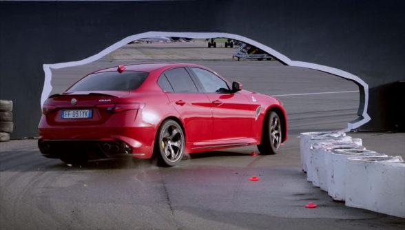 Alfa Romeo Giulia - drift
