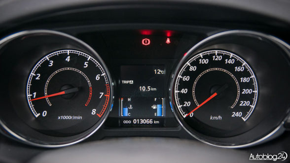 Mitsubishi ASX - ładne zegary w tubach
