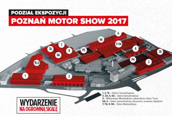 Poznań Motor Show 2017 - plan wystawy