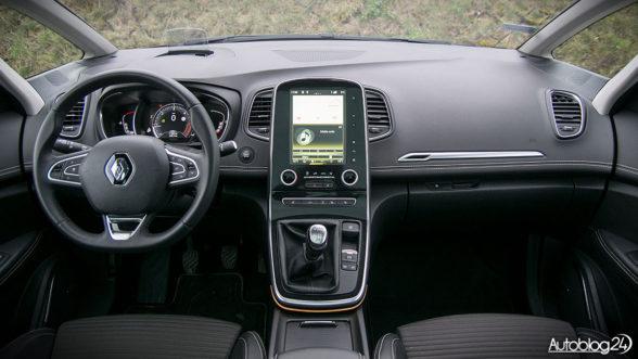 Renault Scenic IV - minimalistyczne wnętrze