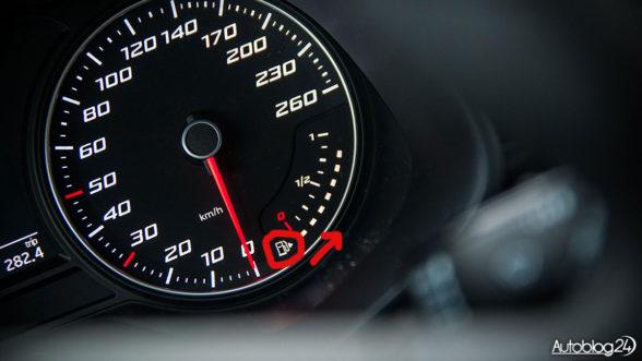 Strzałka sygnalizująca wlew paliwa - Seat