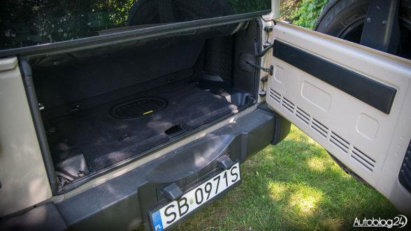 Jeep Wrangler - bagażnik