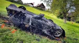Richard Hammond miał wypadek, jego Rimac Concept One doszczętnie spłonął