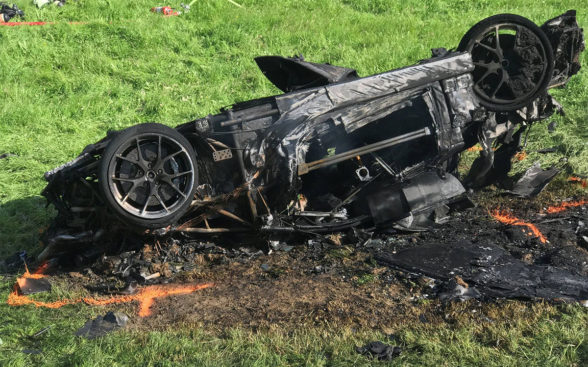 Rimac Concept One - wypadek
