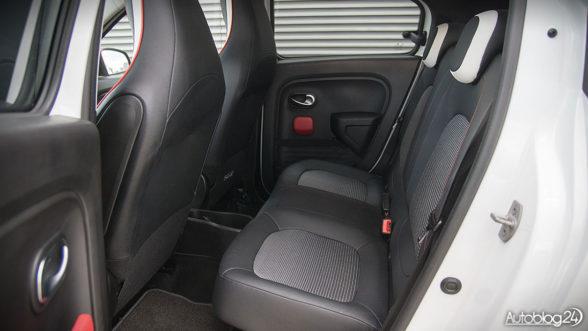 Renault Twingo - tylna kanapa