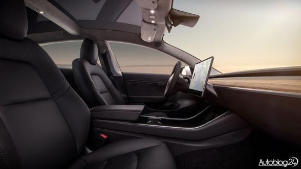 Tesla Model 3 - środek bez przycisków