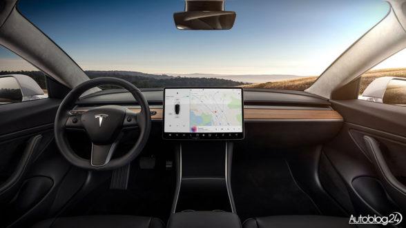 Tesla Model 3 - wnętrze
