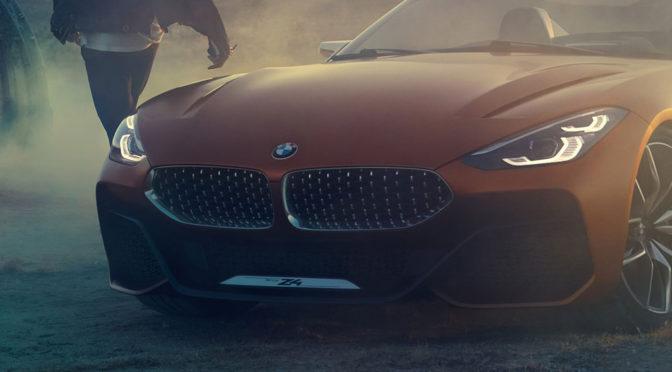 BMW Z4 Concept - zdjęcia zapowiedzi nowej generacji tego roadstera zachwycają, ale nie z każdej strony