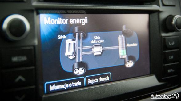 Toyota Auris - monitor energii