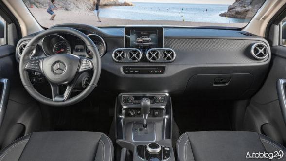 Mercedes Klasy X - wnętrze