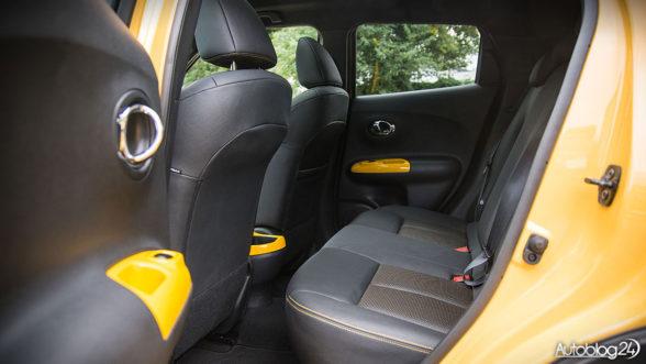 Nissan Juke - tylna kanapa