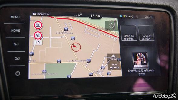 Skoda Octavia 2017 - ekran dotykowy