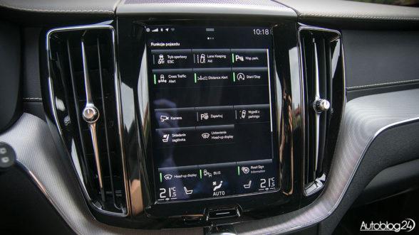 Volvo XC60 - ekran dotykowy