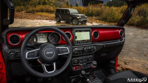 Nowy Jeep Wrangler - wnętrze