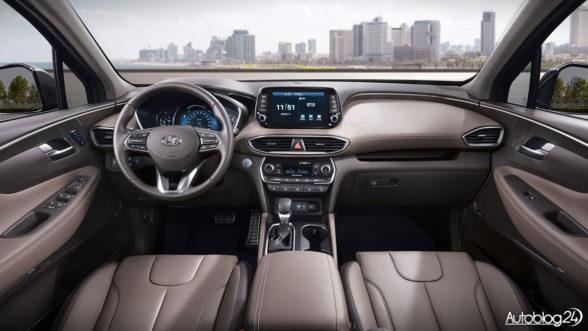 Hyundai Santa Fe 2018 - wnętrze