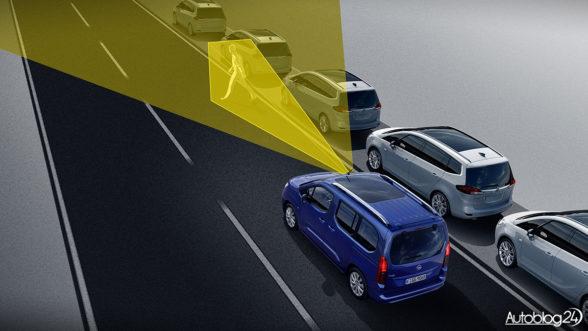Opel Combo 2018 - bezpieczeństwo