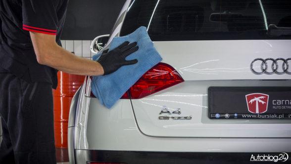 Audi A4 - wycieranie