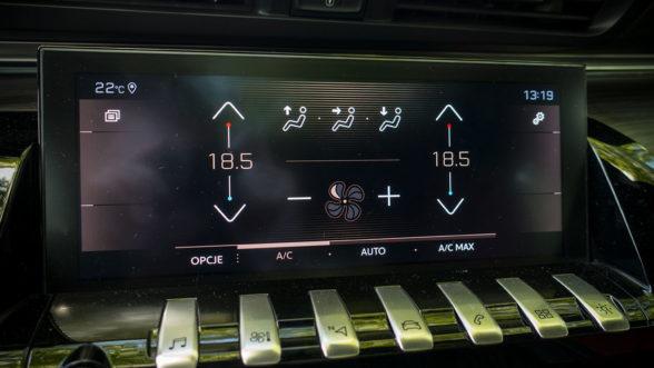 Peugeot 508 - panel klimatyzacji