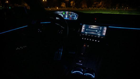 Peugeot 508 - wnętrze noc